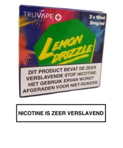TruVape Plus E-liquid - Lemon Drizzle (3x10ml.)
