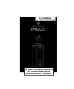 Wismec SINUOUS RAVAGE230 200W Starter Kit