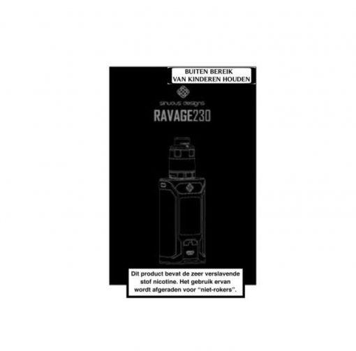 Wismec SINUOUS RAVAGE230 200W Starter Kit