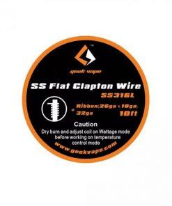 GeekVape SS Flat Clapton Wire (26GA x 18GA) + 32GA